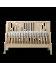 LEANDER- Lit bébé évolutif linea en chêne Naturel - 90 x 65 x 132 cm