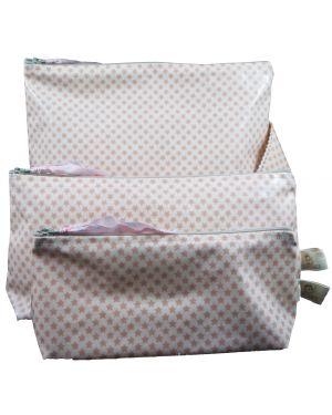 Les Petits Vintage - Trousse coton enduit étoile nude S