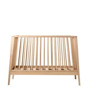 LEANDER - Baby cot Linea oak wood - 90 x 65 x 132 cm