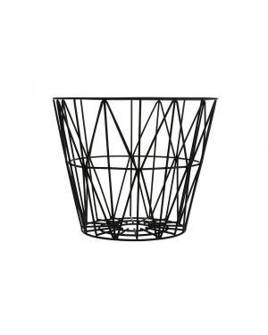 FERM LIVING - Wire Basket Medium - Black