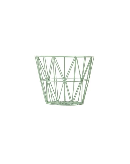 FERM LIVING - Panier Wire - Petit - Vert d'eau / Mint