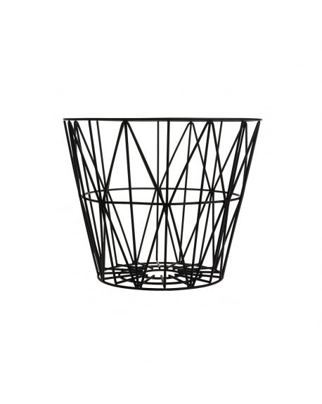 FERM LIVING - Wire Basket Small - Black