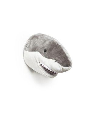 WILD & SOFT - Trophée en peluche - Tête de requin - Jack