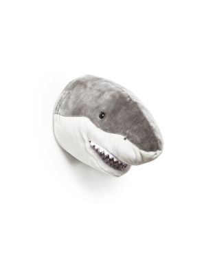 WILD & SOFT - Trophée en peluche - Tête de requin