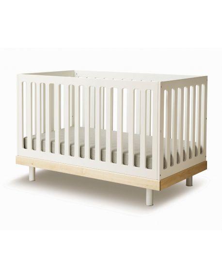 OEUF-CLASSIC lit bébé évolutif Bouleau blanchi