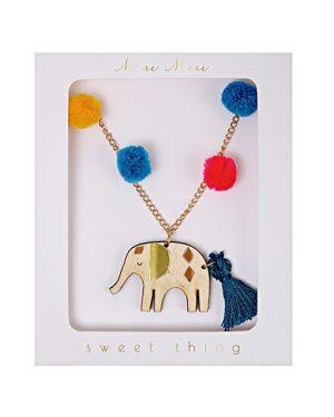 Meri Meri - Pom Pom Elephant Necklace