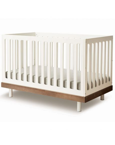 OEUF - CLASSIC Design convertible cot - Walnut/white