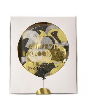 Meri Meri - Shine Confetti Balloon Kit - Gold and Silver
