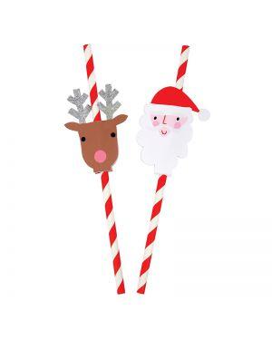 Meri Meri - Santa & Reindeer Straws