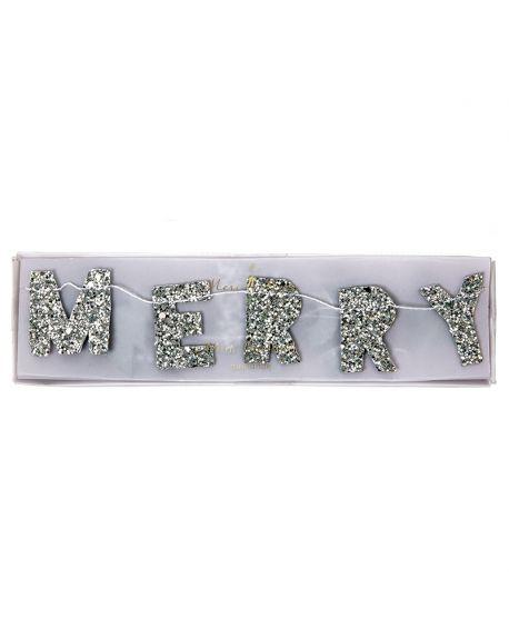Meri Meri - Mini Glitter Xmas Garland