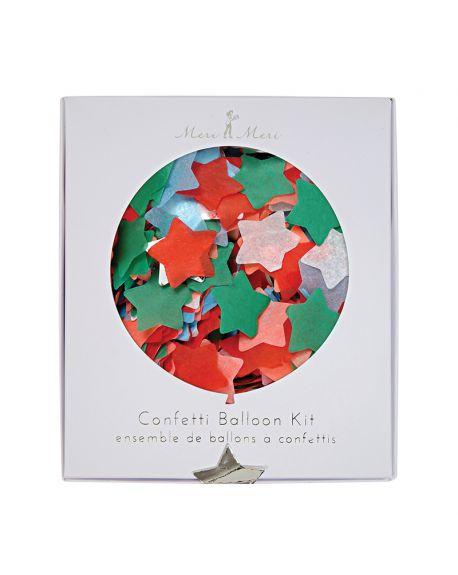 Meri Meri - Kit Ballon Confettis de Noel