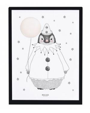 LILIPINSO - Frame Pinguin & stars