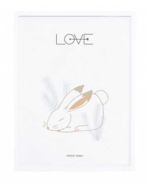LILIPINSO - Tableau lapin love