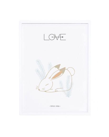 LILIPINSO - Tableau lapin love