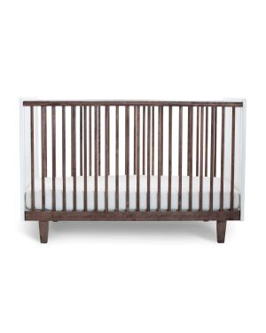 OEUF - RHEA, Design convertible cot White / Walnut
