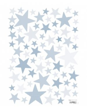"LILIPINSO - Stickers Etoiles bleu clair ""my superstar"""
