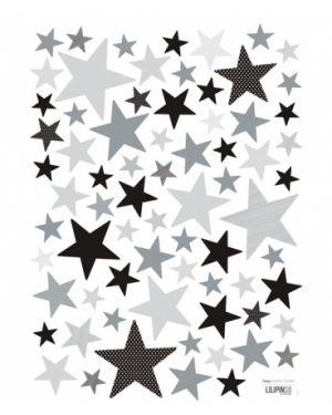 LILIPINSO - Sticker Etoiles grises