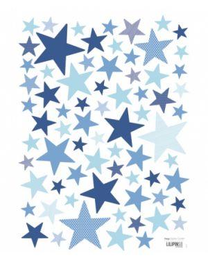 LILIPINSO - Sticker Etoiles bleu vifs
