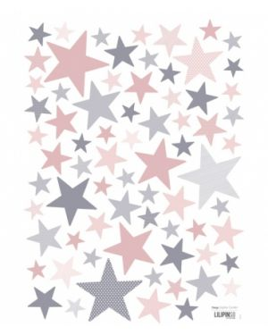 Lilipinso - Stickers pink & grey stars My SuperStar Ballerina