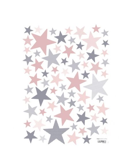 LILIPINSO - Sticker Etoiles rose et gris My SuperStar ballerina