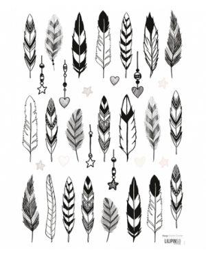 LILIPINSO - Sticker déco plumes noires