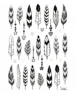 Lilipinso - Stickers deco black feather