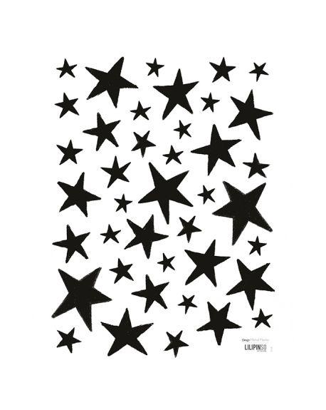 LILIPINSO - Sticker étoiles noires