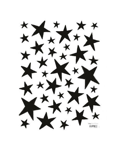 Lilipinso - Stickers black stars