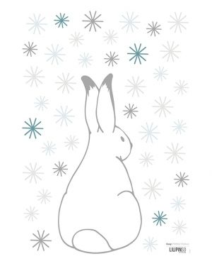 Lilipinso - Stickers rabbits & flakes grey & blue