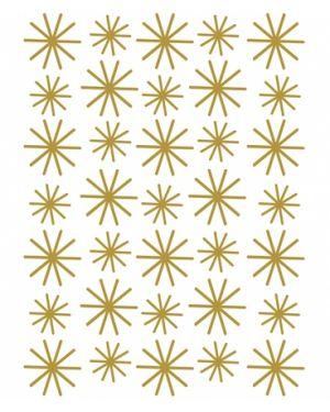 LILIPINSO - Sticker flocons dorés