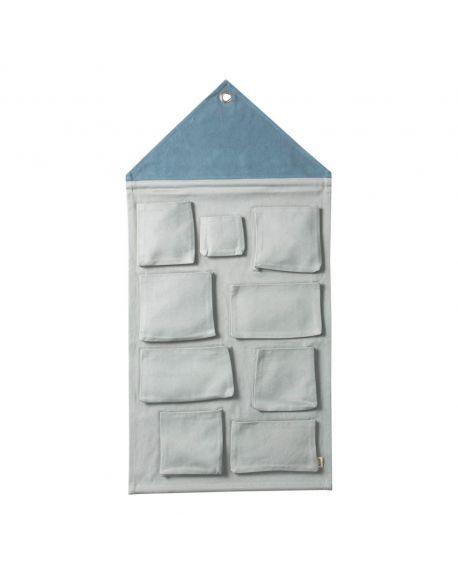 FERM LIVING - Pochette Murale - Bleu