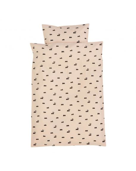 FERM LIVING - Rose Rabbit - Duvet and pillow cover 100 x 140