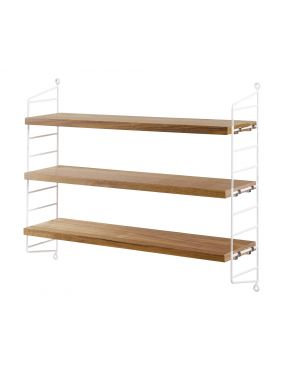 STRING POCKET - BOOKSHELF - White / Oak