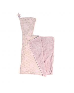 JACK N'A QU'UN OEIL - JUPITER - Bath Cape - Powder pink