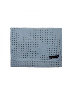 JACK N'A QU'UN OEIL - VLAD Changing Bag - Powder blue stars