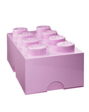 STORAGE BOX - LEGO - 8 studs / Powder pink