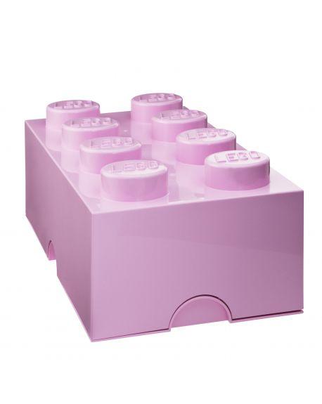 LEGO - STORAGE BOX - 8 studs - Powder pink