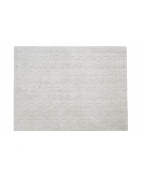 LORENA CANALS - TAPIS TRENZAS Gris Clair - 120 x 160 cm