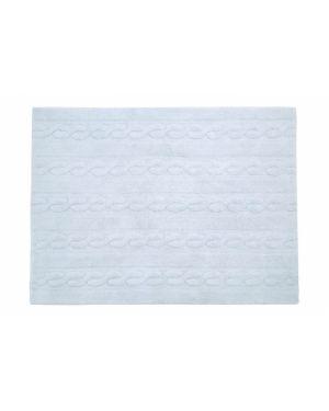 LORENA CANALS - TAPIS TRENZAS Bleu Clair - 120 x 160 cm
