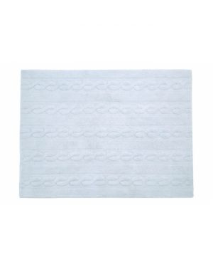 LORENA CANALS - TRENZAS Soft Blue - 120 X 160 cm