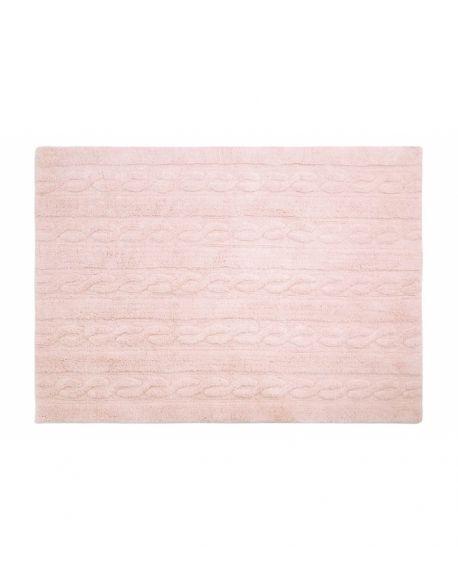 LORENA CANALS - TAPIS TRENZAS Rose clair - 120 x 160 cm