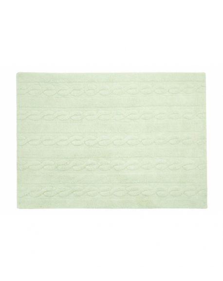 LORENA CANALS - TRENZAS Soft Mint - 120 X 160 cm