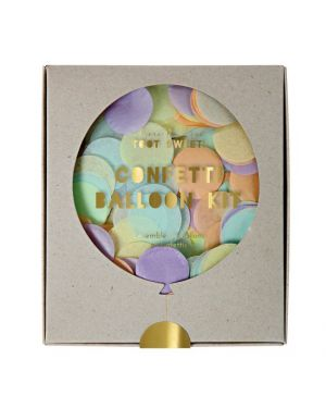 Meri Meri - Neon confetti balloon kit - 8 giants ballons