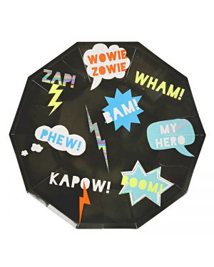 Meri Meri - Super hero Large Plate