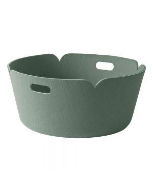 MUUTO-RESTORE - DESIGN STORAGE BASKET - Dusty Green - 52 cm