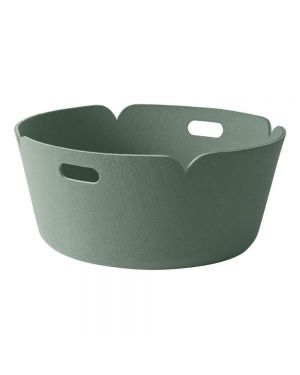 MUUTO RESTORE - Panier de Rangement Rond Design - Vert amande