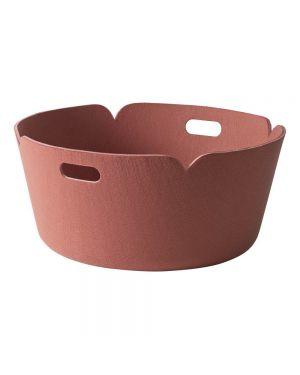 MUUTO-RESTORE - DESIGN STORAGE BASKET - Pink - 52 cm
