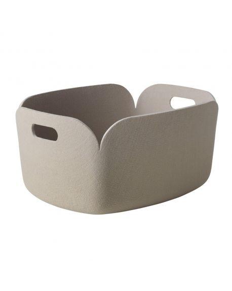 MUUTO RESTORE - Panier de Rangement Design - Sable