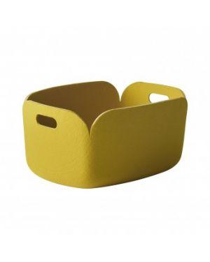 MUUTO RESTORE - Panier de Rangement Design - Jaune