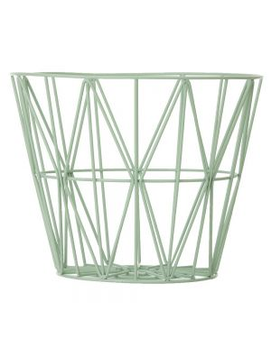 FERM LIVING - Panier Wire grand- Mint